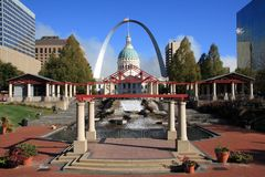 St Louis city landmark, Royalty Free Stock Photography