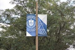 Saint Louis University Street Banner, St. Louis Missouri. royalty free stock photos