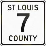 St Louis County Highway Stock Images