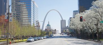 St Louis daglandskap Arkivbild