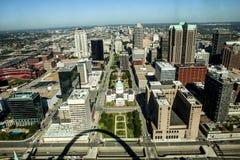 St Louis do centro e o tribunal velho Foto de Stock Royalty Free