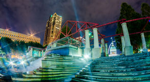 St. Louis downtown skyline buildings at night Royalty Free Stock Photography