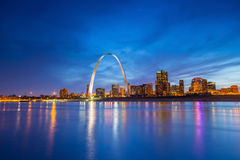 St. Louis downtown. At twilight Royalty Free Stock Photography