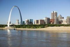 St Louis, fotografia da skyline Imagem de Stock Royalty Free