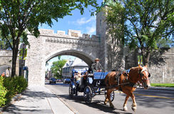 St. Louis Gate in Quebec City, Canada Stock Photography