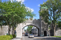 St. Louis Gate in Quebec City, Canada Royalty Free Stock Photo