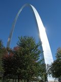 St. Louis Gateway Arch. A view of the Gateway Arch in St. Louis, Missouri Stock Image