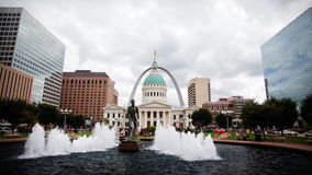 St. Louis Gateway Arch & Old Courthouse Stock Photo