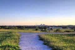 St Louis i, Missouri linia horyzontu zdjęcie royalty free