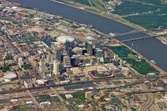St. Louis im Stadtzentrum gelegen stockbilder