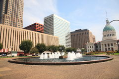 St. Louis - Kiener Plaza Fountain Royalty Free Stock Photography