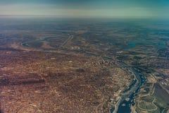 St. Louis Missouri Bi-State Aerial View Royalty Free Stock Photos
