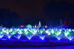 St.Louis, Missouri, de V.S. - 22 Nov. 2017: De Botanische Tuin van Missouri bij de Tuingloed Royalty-vrije Stock Afbeelding
