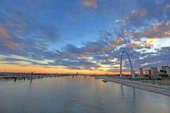 St Louis, Missouri i brama łuk, fotografia stock