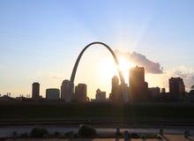 St Louis, Missouri linia horyzontu obraz stock