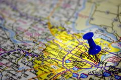 St. Louis Missouri Map Royalty Free Stock Images