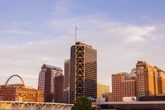 St Louis Missouri - sikt av staden arkivbild