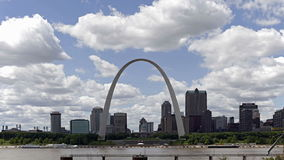St. Louis, Missouri. A Time-Lapse of City of St. Louis Skyline, Missouri, USA stock footage