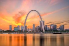 St Louis, Missouri, usa linia horyzontu fotografia stock