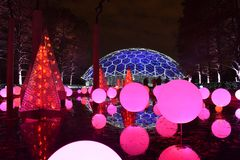 St Louis, Missouri, USA - Nov 22 2017: Garden Glow Missouri Botanic Garden