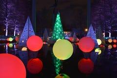 St Louis, Missouri, usa - Nov 22 2017: Ogrodowi Jarzeniowi wakacji światła Obrazy Royalty Free