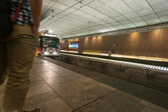 St Louis, Missouri, USA subway Rail station. Royalty Free Stock Photo