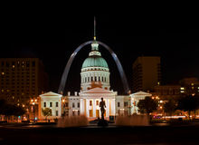 St Louis - old court house at night Stock Photography