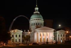 St.Louis - Oud Gerechtsgebouw Stock Afbeeldingen