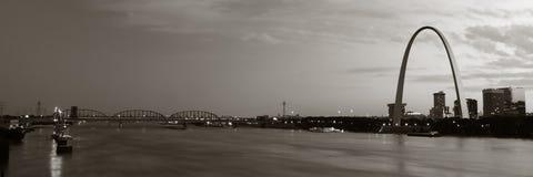 St. Louis panorámica entonada Fotografía de archivo libre de regalías