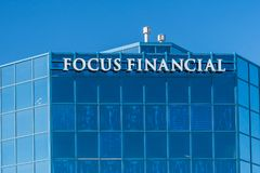 Focus Financial Corporation Exterior and Logo Royalty Free Stock Photo