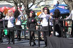 St. Louis St. Patrick Day Parade Dancers 2019 I royalty free stock image