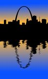 St. Louis Silhouette Stock Images