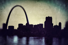 St Louis Skyline Fotografia Stock