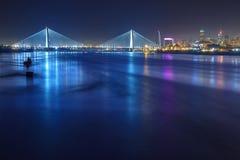 St Louis Skyline con i ponti Immagine Stock Libera da Diritti