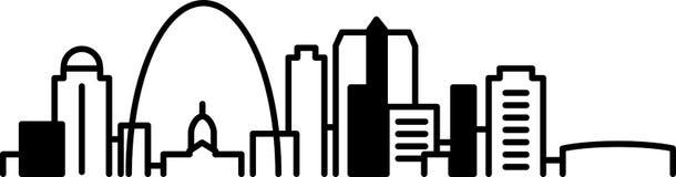 St Louis Skyline Icon Fotografia Stock Libera da Diritti