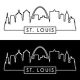 St.Louis skyline. Linear style. Royalty Free Stock Photo
