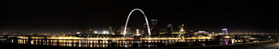 St. Louis Skyline panoramic Royalty Free Stock Photo