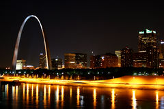 St. Louis Skyline Reflection royalty free stock images