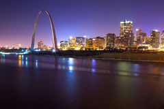 St. Louis Skyline at Twilight Royalty Free Stock Photography