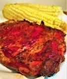 St Louis Smoked Pork Spareribs Immagini Stock Libere da Diritti