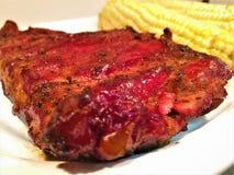 St Louis Smoked Pork Spareribs Fotografie Stock