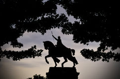 St. Louis Statue. Apotheosis of St. Louis is a statue of King Louis IX of France in St. Louis, Missouri Royalty Free Stock Images
