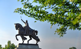 St. Louis Statue. Apotheosis of St. Louis statue of King Louis IX of France, namesake of St. Louis, Missouri in Forest Park, St. Louis, Missouri Stock Photo