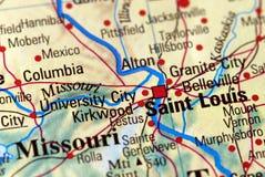 St. Louis sul programma Immagine Stock Libera da Diritti
