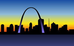 St_Louis_sunset Stock Photography