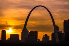 St Louis Sunset fotografía de archivo