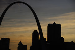 St. Louis at Sunset Royalty Free Stock Photo