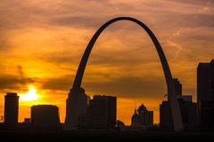 St. Louis Sunset. Stock Photography