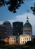 St Louis vid natt Royaltyfri Fotografi