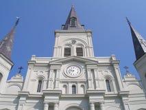 St.- Louiskathedralenahaufnahme stockfotos
